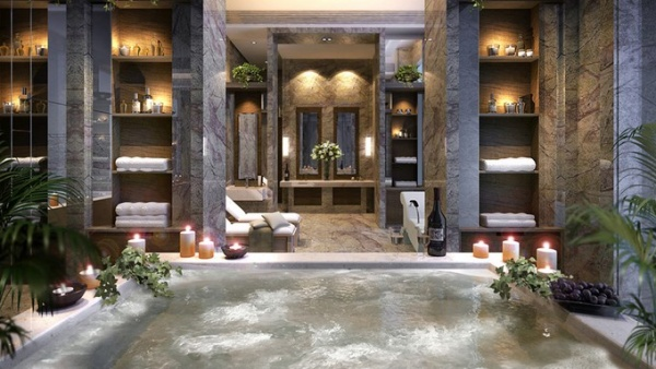 Spa Interior Design   Black Interior spa interior design