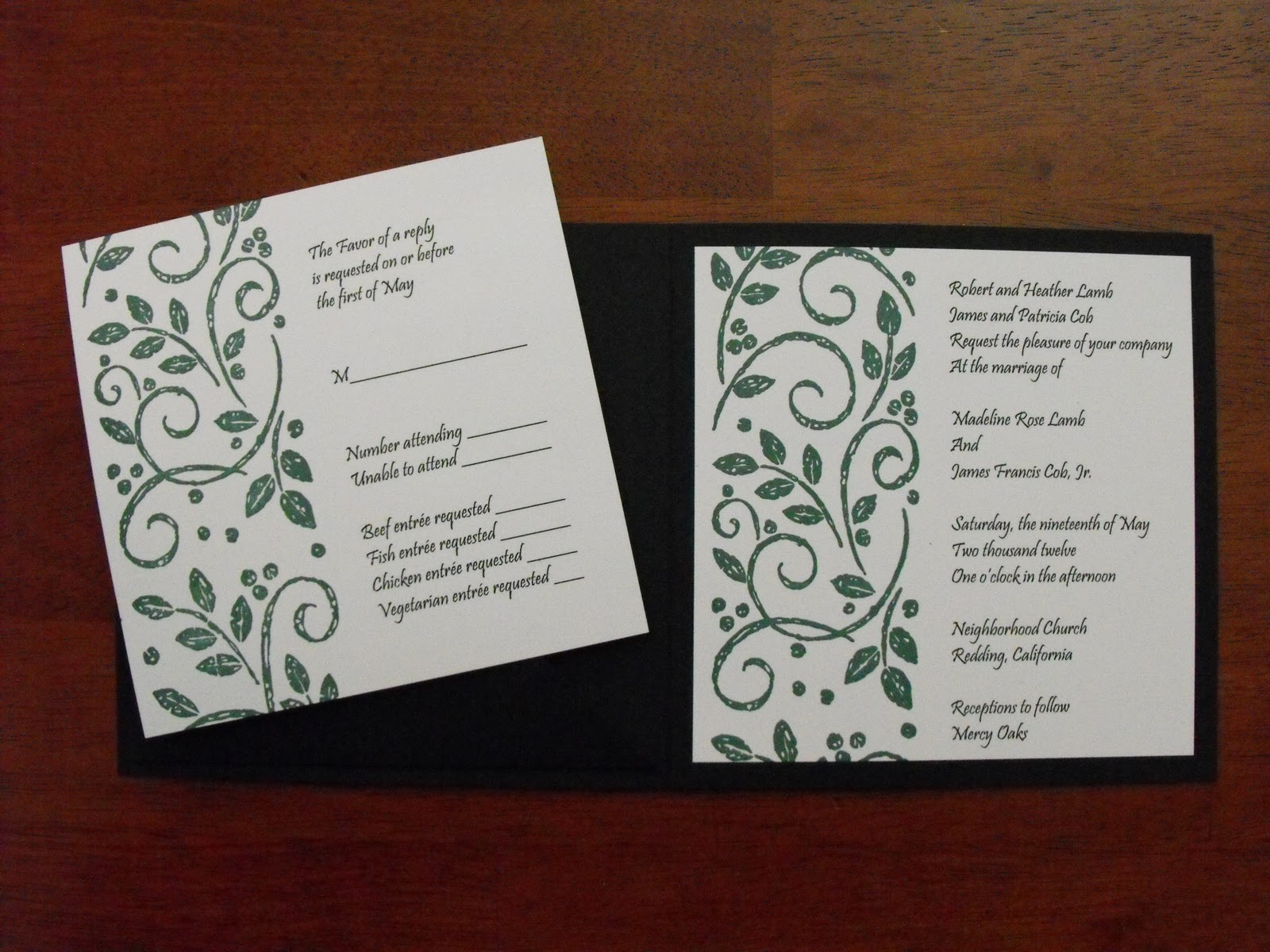 Making Wedding Invites Yourself: Sharon's Stamp Shack: Do It Yourself Wedding Invitation Class