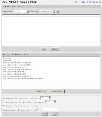 SAP Netweaver Stuff: Screenshots from using the Web Diagtool