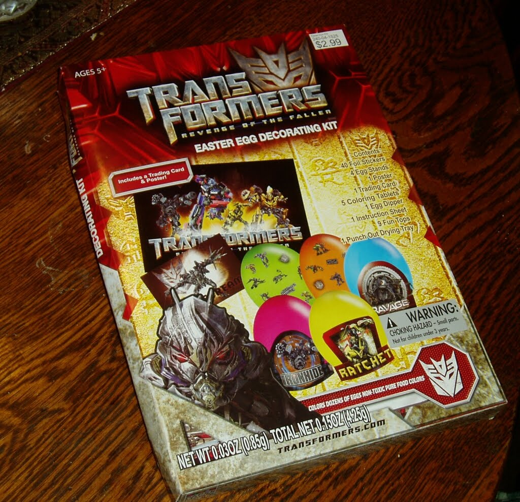 Easter Eggs Decoration Kit By Cocoapod: Transforming Seminarian: Transformers Easter Egg