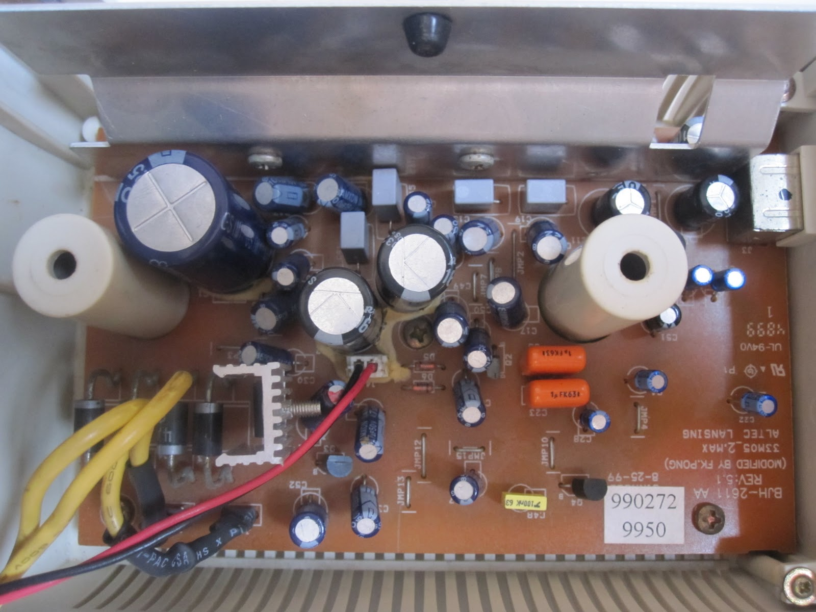 small resolution of closeup of pcb after substitution myoldvintagehifi altec lansing