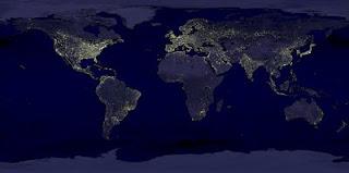 Energía eléctrica utilizada por el planeta en la noche