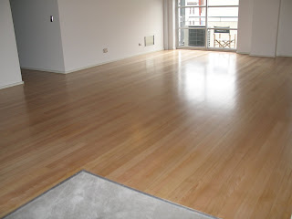The Floor Was Originally Coated With Solvent Based Polyurethane This Had Worn Badly And Yellowed Customer Wanted A Bright Minimalist Look
