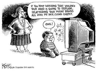 The effects of the television violence on the modern society