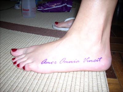 Obexfage Amor Vincit Omnia Tattoo On Back