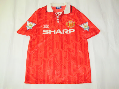 558eb0782 Patch Them UP !  Man United 1992 94 Home Shirt