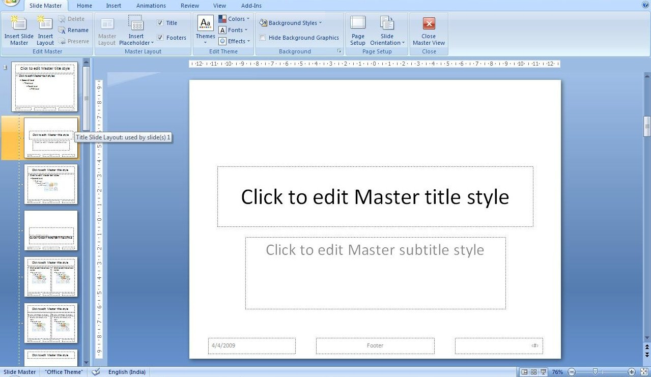all about presentations by jazz factory change the font size of