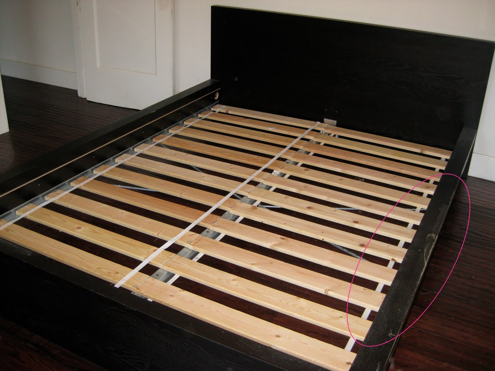 belongings4sale: Ikea MALM queen-sized bed frame $50
