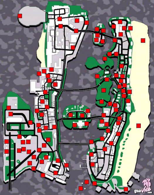 Vice City Map Properties Oyun Haritaları - Ash...