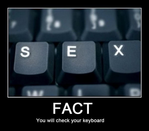 Find the word sex on the keyboard