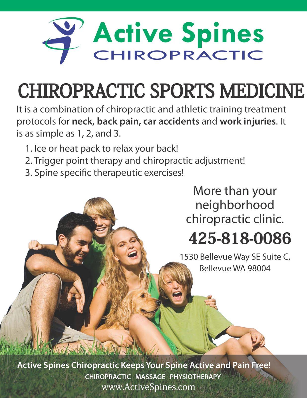 chiropractic sports medicine flyer