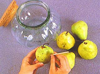 Como preparar peras con brandy o vodka