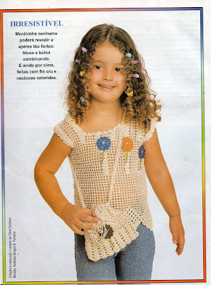 6e637ec2b33 Gráficos/Receitas - Crochê: Regata Infantil | Crochê Tricô - Gráficos