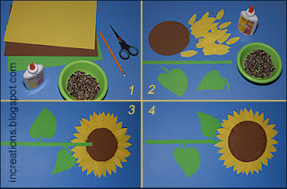 Paper Sunflower Process
