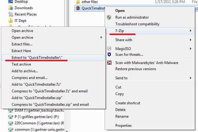 Ramblings o\u0027 Techie: Deploying Quicktime fails with \