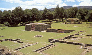 Temple Square of pre-Columbian Mayan site Iximche
