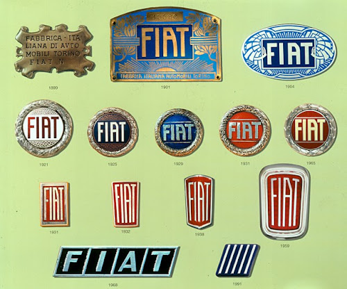 Fiat Badges from 1899 - 1999