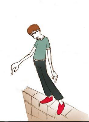 Resultado de imagem para equilibrista em muro