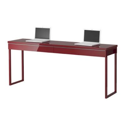 The Love of Beauty: Ikea Long Narrow High Gloss Desk