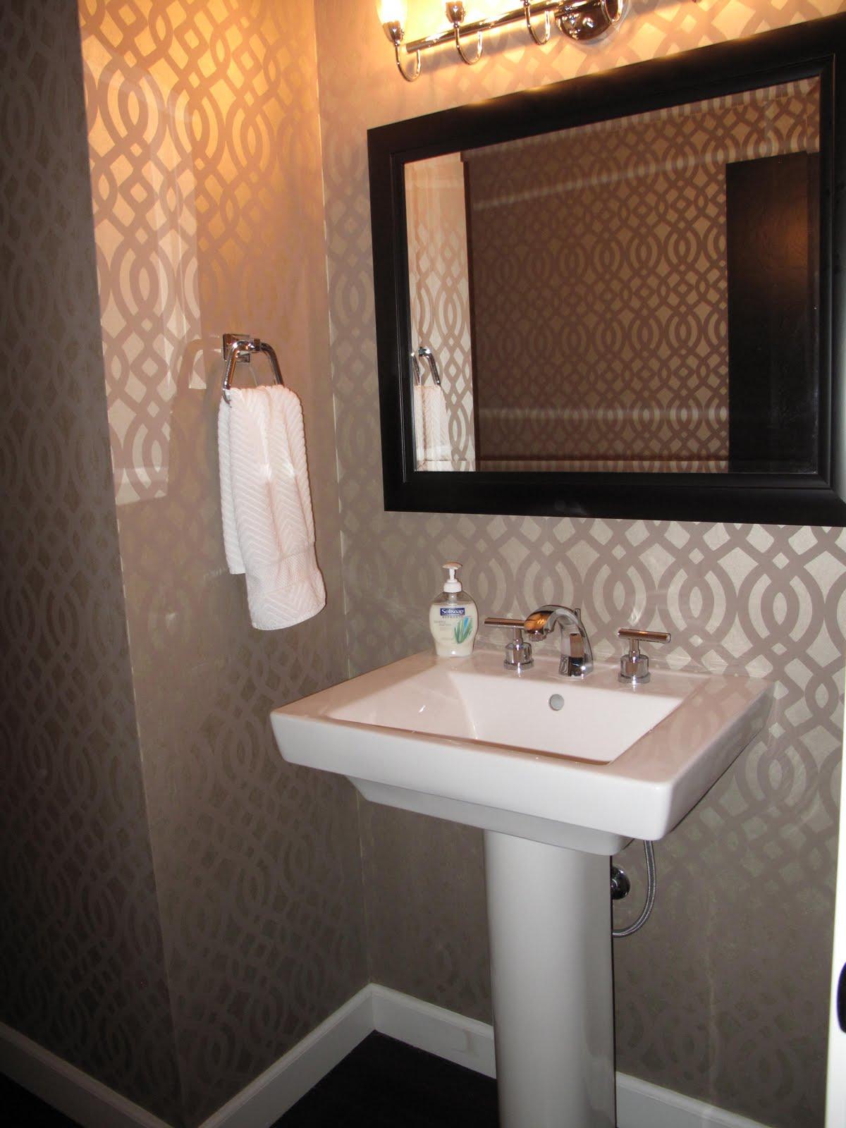 Modern Powder Room Design Black White