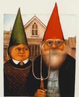 American Gothic Parodies Gnome American Gothic