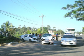Taxi accident, Honduras