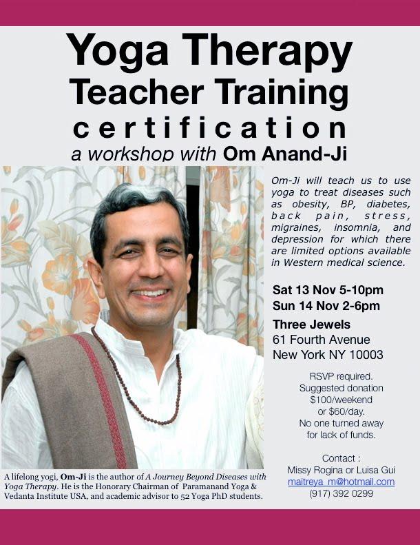 The Three Jewels Yoga Therapy Teacher Training Workshop