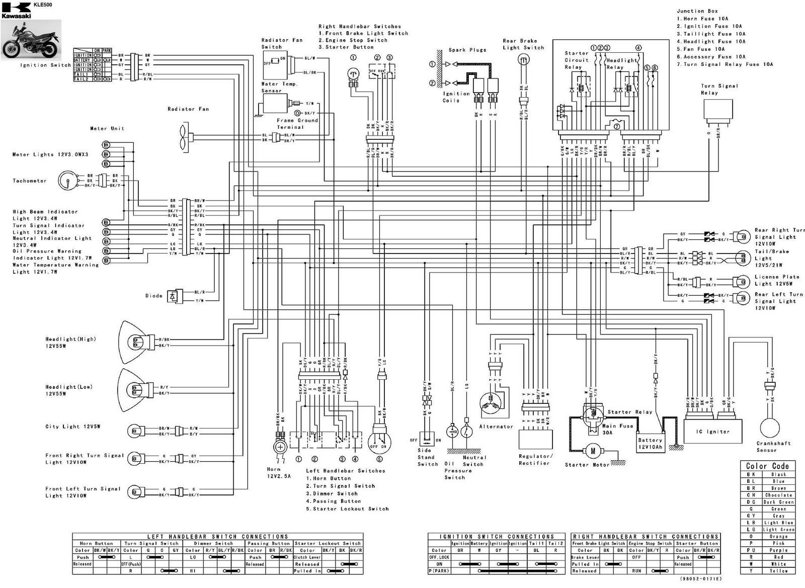kawasaki ex500 wiring schematic wiring diagram kawasaki ninja 500r wiring diagram [ 1600 x 1169 Pixel ]