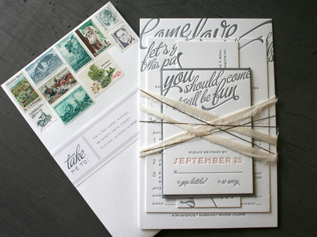 Other Letterpress Stuff I M Having A Crush On This Florescent Pink Edging And Color Grant Wedding Invitation