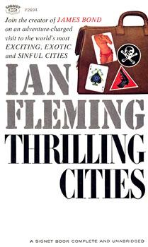 Image result for 1ª edição de Thrilling cities de Ian Fleming