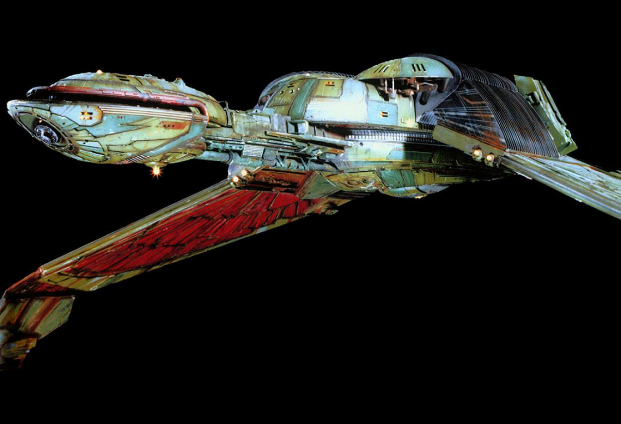 Star Trek Sci Fi Blog 3d Klingon Bird Of Prey Wallpaper