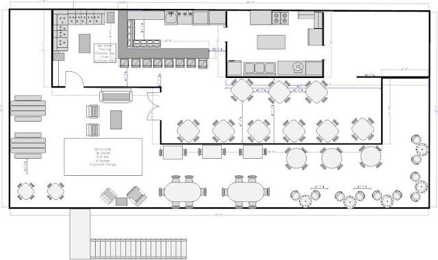 Monkey Face, LLC: Roof Top Restaurant Floor Plan- RENTED