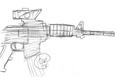 Ak 47 Sketch Drawing Sketch Coloring Page