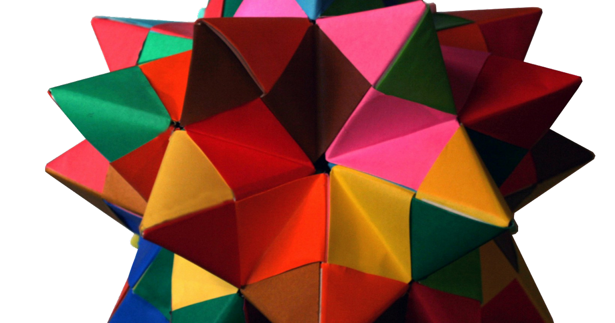 Sturdy Edge Module - spiked icosahedron | Sturdy, Paper lamp, Origami | 630x1200