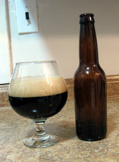A Snifter of Smoked Rye Blatic Porter.