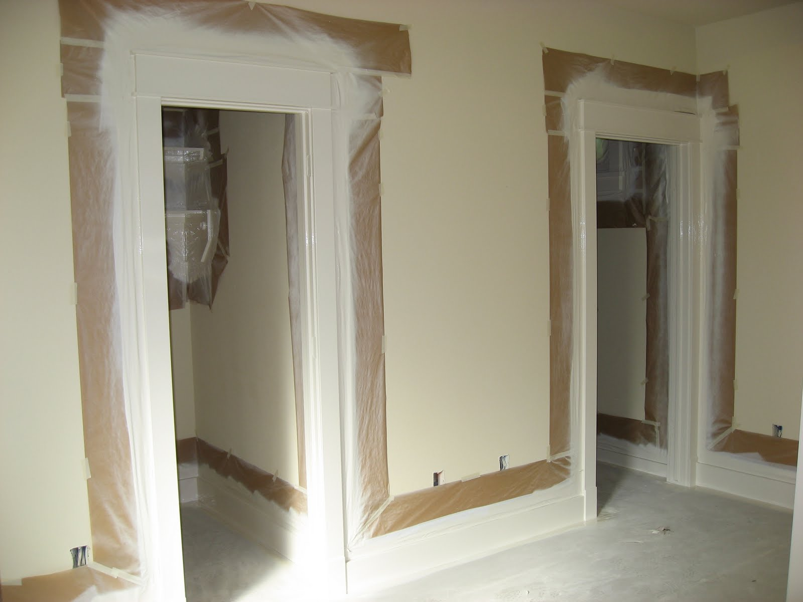 Green house good life finally interior paint - Painting interior doors and trim ...