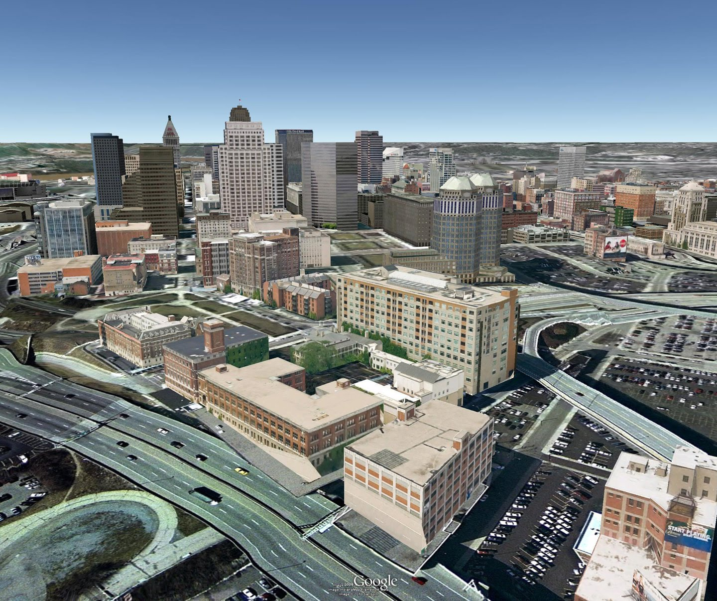 Google Lat Long: Cincinnati Now In 3D