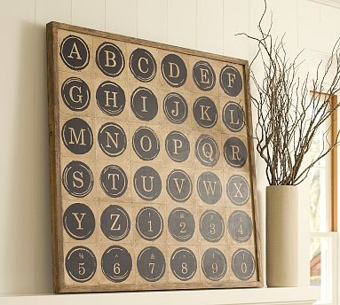 I Love This Typewriter Key Wall Art From Pottery Barn, And Thought For Sure  I Could Make Something Like It For A Fraction Of The Cost.