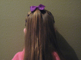 Back view of Rows of Three | Cute Hairstyles