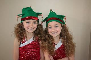 twins dressed as elves