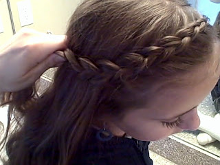 Side view of the Reverse French Front | Dutch Braids