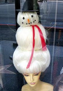 Snowman shaped hair