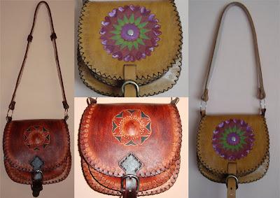 115db62d8 Cartera de cuero, confeccionada integramente a mano (corte, diseño, pintura  y costura), modelos únicos y exclusivos. Todo artesanal.