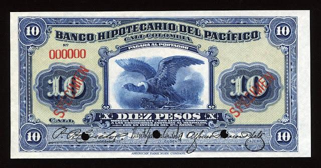 Billete Colombia paper money pesos banknote
