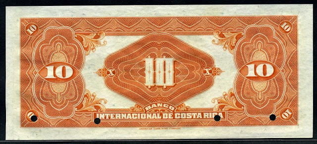 Costa Rican money Colones banknote