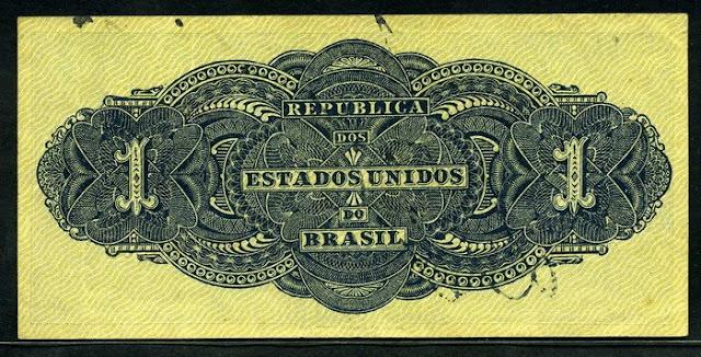 Notafilia cédula Brazilian Mil Reis