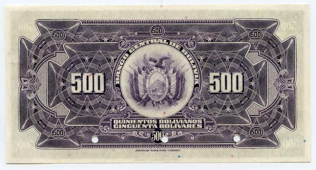 500 Bolivian bolivianos