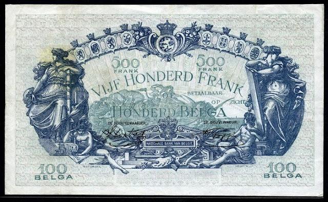 Belgium 500 Francs 100 Belgas