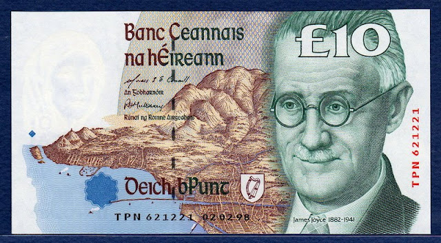 Ireland 10 Pounds banknote Irish Punt currency bank note image gallery