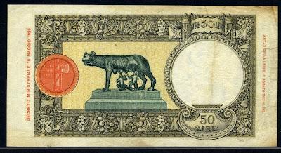 Italy 50 Lire note